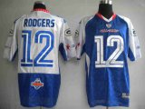 Cheap Packers #12 Aaron Rodgers Blue 2010 Pro Bowl Stitched NFL Jersey