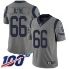 Cheap Nike Rams #66 Austin Blythe Gray Men's Stitched NFL Limited Inverted Legend 100th Season Jersey