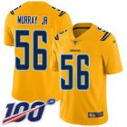 Cheap Nike Chargers #56 Kenneth Murray Jr Gold Youth Stitched NFL Limited Inverted Legend 100th Season Jersey