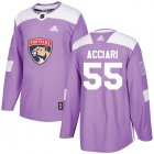 Cheap Adidas Panthers #55 Noel Acciari Purple Authentic Fights Cancer Stitched NHL Jersey