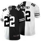 Cheap Carolina Panthers #22 Christian McCaffrey Men's Black V White Peace Split Nike Vapor Untouchable Limited NFL Jersey