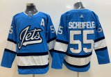 Cheap Adidas Jets #55 Mark Scheifele Blue Alternate Authentic Stitched NHL Jersey