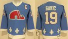 Cheap Nordiques #19 Joe Sakic Light Blue Stitched Youth NHL Jersey