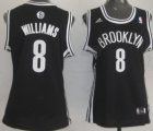 Cheap Brooklyn Nets #8 Deron Williams Black Womens Jersey