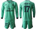 Cheap Real Madrid #17 Lucas V. Third Long Sleeves Soccer Club Jersey