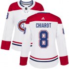 Cheap Adidas Canadiens #8 Ben Chiarot White Road Authentic Women's Stitched NHL Jersey
