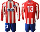 Cheap Atletico Madrid #13 Oblak Home Long Sleeves Soccer Club Jersey