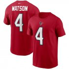 Cheap Houston Texans #4 Deshaun Watson Nike Team Player Name & Number T-Shirt Red