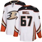 Cheap Adidas Ducks #67 Rickard Rakell White Road Authentic Youth Stitched NHL Jersey