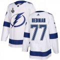 Cheap Adidas Lightning #77 Victor Hedman White Road Authentic 2020 Stanley Cup Final Stitched NHL Jersey