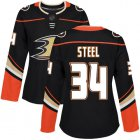 Cheap Adidas Ducks #34 Sam Steel Black Home Authentic Women's Stitched NHL Jersey