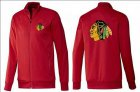 Cheap NHL Chicago Blackhawks Zip Jackets Red