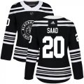Cheap Adidas Blackhawks #20 Brandon Saad Black Authentic 2019 Winter Classic Women's Stitched NHL Jersey