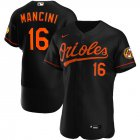 Cheap Baltimore Orioles #16 Trey Mancini Men's Nike Black Alternate 2020 Authentic Player MLB Jersey