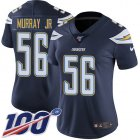 Cheap Nike Chargers #56 Kenneth Murray Jr Navy Blue Team Color Women's Stitched NFL 100th Season Vapor Untouchable Limited Jersey