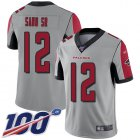 Cheap Nike Falcons #12 Mohamed Sanu Sr Silver Men's Stitched NFL Limited Inverted Legend 100th Season Jersey