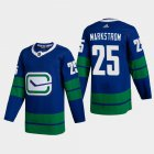 Cheap Vancouver Canucks #25 Jacob Markstrom Men's Adidas 2020-21 Authentic Player Alternate Stitched NHL Jersey Blue