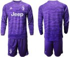 Cheap Juventus Blank Purple Goalkeeper Long Sleeves Soccer Club Jersey