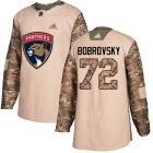 Cheap Adidas Panthers #72 Sergei Bobrovsky Camo Authentic 2017 Veterans Day Stitched Youth NHL Jersey