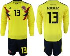 Cheap Colombia #13 Gonzalez Home Long Sleeves Soccer Country Jersey
