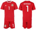 Cheap Wales #1 Hennessey Red Home Soccer Club Jersey