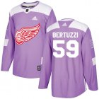 Cheap Adidas Red Wings #59 Tyler Bertuzzi Purple Authentic Fights Cancer Stitched Youth NHL Jersey