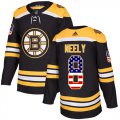 Cheap Adidas Bruins #8 Cam Neely Black Home Authentic USA Flag Youth Stitched NHL Jersey