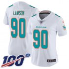 Cheap Nike Dolphins #90 Shaq Lawson White Women's Stitched NFL 100th Season Vapor Untouchable Limited Jersey