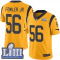 Cheap Nike Rams #56 Dante Fowler Jr Gold Super Bowl LIII Bound Men's Stitched NFL Limited Rush Jersey