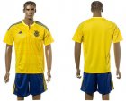 Cheap Ukraine Blank Home Soccer Country Jersey