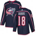 Cheap Adidas Blue Jackets #18 Pierre-Luc Dubois Navy Blue Home Authentic Stitched Youth NHL Jersey