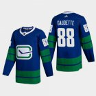 Cheap Vancouver Canucks #88 Adam Gaudette Men's Adidas 2020-21 Authentic Player Alternate Stitched NHL Jersey Blue