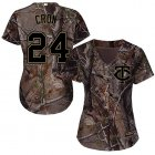 Cheap Twins #24 C.J. Cron Camo Realtree Collection Cool Base Women's Stitched MLB Jersey