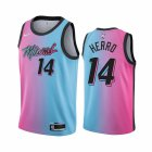 Cheap Nike Heat #14 Tyler Herro Blue Pink NBA Swingman 2020-21 City Edition Jersey