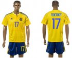Cheap Ukraine #17 Fedetskiy Home Soccer Country Jersey