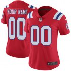 Cheap Nike New England Patriots Customized Red Alternate Stitched Vapor Untouchable Limited Women's NFL Jersey