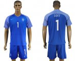 Cheap Holland #1 Zoet Away Soccer Country Jersey