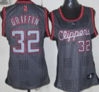 Cheap Los Angeles Clippers #32 Blake Griffin Black Rhythm Fashion Womens Jersey