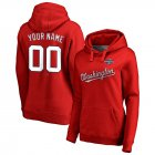 Cheap Washington Nationals Majestic Women's 2019 World Series Champions Custom Pullover Hoodie Red
