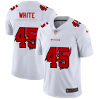 Cheap Tampa Bay Buccaneers #45 Devin White White Men's Nike Team Logo Dual Overlap Limited NFL Jersey