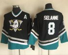 Cheap Ducks #8 Teemu Selanne Black CCM Throwback Youth Stitched NHL Jersey