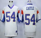 Cheap Blue Mountain State #54 Thad Castle White 2015 College Football Jersey
