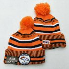 Cheap Broncos Team Logo Orange 100th Season Pom Knit Hat YD
