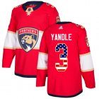 Cheap Adidas Panthers #3 Keith Yandle Red Home Authentic USA Flag Stitched Youth NHL Jersey