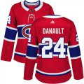 Cheap Adidas Canadiens #24 Phillip Danault Red Home Authentic Women's Stitched NHL Jersey
