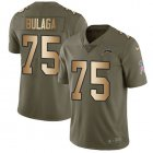 Cheap Nike Chargers #75 Bryan Bulaga Olive/Gold Youth Stitched NFL Limited 2017 Salute To Service Jersey