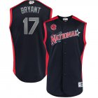 Cheap National League #17 Kris Bryant Majestic 2019 MLB All-Star Game Workout Player Jersey Navy