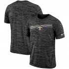 Cheap New Orleans Saints Nike Sideline Velocity Performance T-Shirt Heathered Black