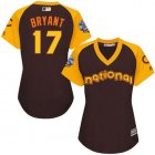 Cheap Cubs #17 Kris Bryant Brown 2016 All-Star National League Women's Stitched MLB Jersey