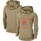 Cheap Women's Cleveland Browns Nike Khaki 2019 Salute to Service Therma Pullover Hoodie